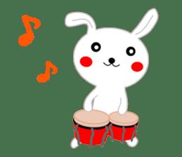 Percussion rabbit sticker #4907615