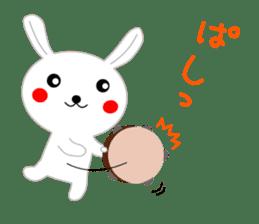 Percussion rabbit sticker #4907620
