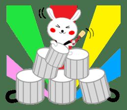 Percussion rabbit sticker #4907621