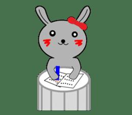 Percussion rabbit sticker #4907622