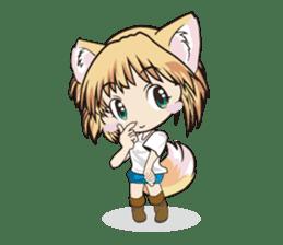 "a fox ""Konchan"" Ver.3 No Word Version sticker #4912668"