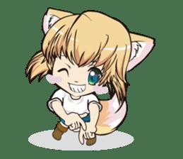 "a fox ""Konchan"" Ver.3 No Word Version sticker #4912670"