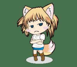 "a fox ""Konchan"" Ver.3 No Word Version sticker #4912673"