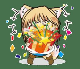 "a fox ""Konchan"" Ver.3 No Word Version sticker #4912678"