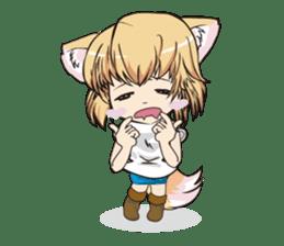 "a fox ""Konchan"" Ver.3 No Word Version sticker #4912679"