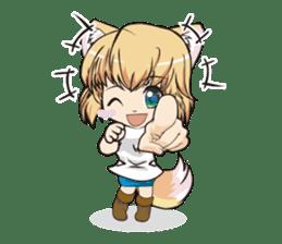"a fox ""Konchan"" Ver.3 No Word Version sticker #4912683"