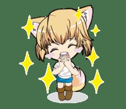 "a fox ""Konchan"" Ver.3 No Word Version sticker #4912687"