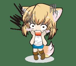 "a fox ""Konchan"" Ver.3 No Word Version sticker #4912688"