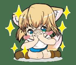 "a fox ""Konchan"" Ver.3 No Word Version sticker #4912689"