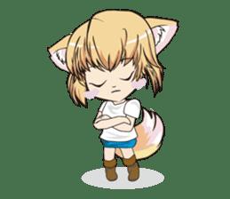 "a fox ""Konchan"" Ver.3 No Word Version sticker #4912690"