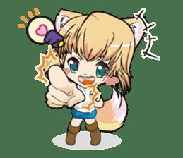"a fox ""Konchan"" Ver.3 No Word Version sticker #4912691"