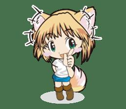 "a fox ""Konchan"" Ver.3 No Word Version sticker #4912692"