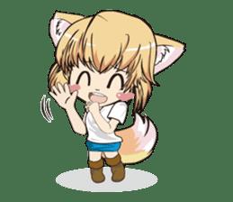 "a fox ""Konchan"" Ver.3 No Word Version sticker #4912698"