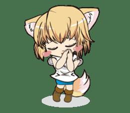 "a fox ""Konchan"" Ver.3 No Word Version sticker #4912699"