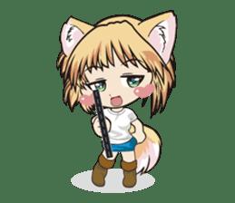 "a fox ""Konchan"" Ver.3 No Word Version sticker #4912700"