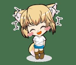 "a fox ""Konchan"" Ver.3 No Word Version sticker #4912702"
