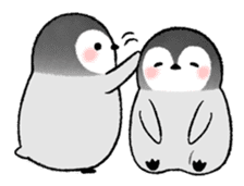 Emperor penguin brothers (English) sticker #4924502