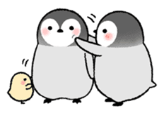 Emperor penguin brothers (English) sticker #4924505
