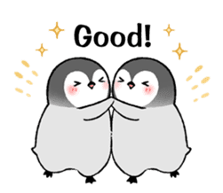 Emperor penguin brothers (English) sticker #4924506