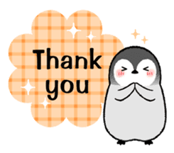Emperor penguin brothers (English) sticker #4924522