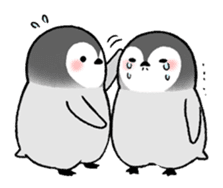 Emperor penguin brothers (English) sticker #4924533
