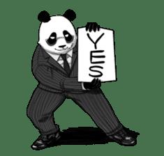 A little scary panda sticker #4926310