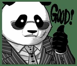 A little scary panda sticker #4926317