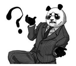 A little scary panda sticker #4926329