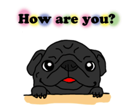 Cute & funny pug sticker #4927303