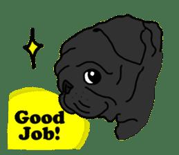 Cute & funny pug sticker #4927311