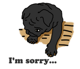 Cute & funny pug sticker #4927313