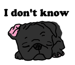 Cute & funny pug sticker #4927320