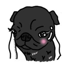 Cute & funny pug sticker #4927325