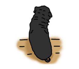 Cute & funny pug sticker #4927328