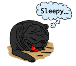 Cute & funny pug sticker #4927329