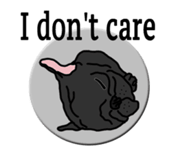 Cute & funny pug sticker #4927331