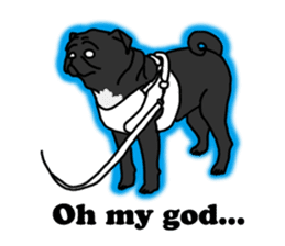Cute & funny pug sticker #4927339