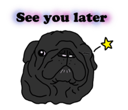Cute & funny pug sticker #4927340