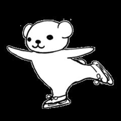 フィギュアスケーターくま