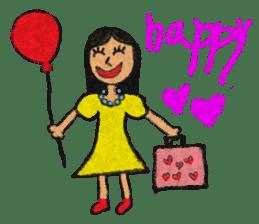 crayon friend baby drawing sticker #4941012