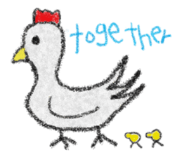 crayon friend baby drawing sticker #4941013