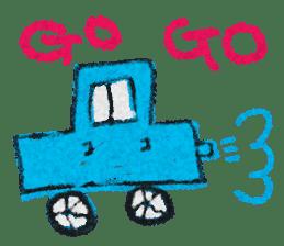 crayon friend baby drawing sticker #4941018