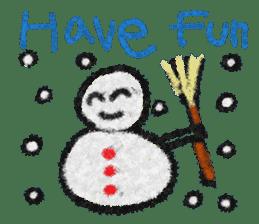 crayon friend baby drawing sticker #4941022