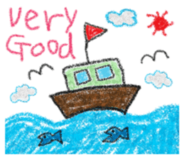 crayon friend baby drawing sticker #4941024