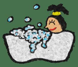 crayon friend baby drawing sticker #4941034