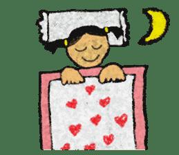 crayon friend baby drawing sticker #4941039