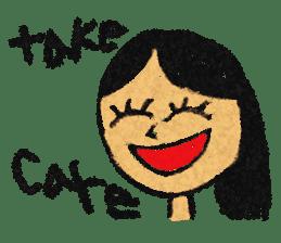 crayon friend baby drawing sticker #4941041