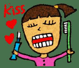 crayon friend baby drawing sticker #4941042