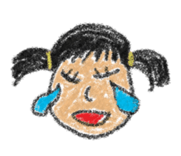 crayon friend baby drawing sticker #4941045