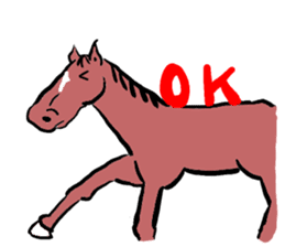 Mr,E-horse sticker #4944367